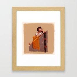 Mexican Rapunzel Framed Art Print