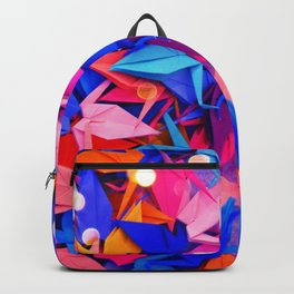 Senbazuru | pink and blues Backpack