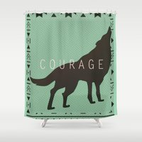 courage Shower Curtains featuring Courage by Laura Santeler