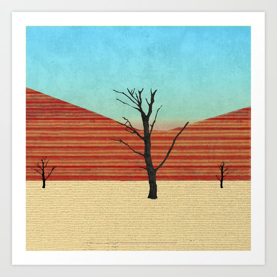 The Desert View Art Print