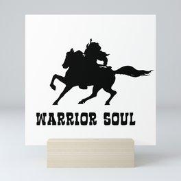 Warrior Soul Graphic Silhouette Concept Mini Art Print