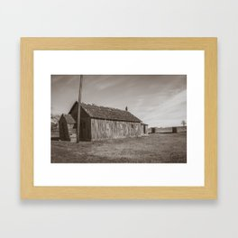 CCC-Built KC Hall, Huff, North Dakota 4 Framed Art Print