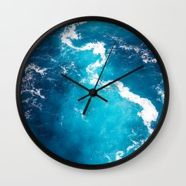 Blue water Wall Clock