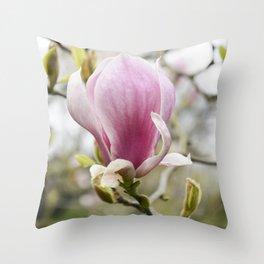 Singular Magnolia Throw Pillow