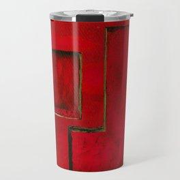 Detached, Abstract Shapes Art Travel Mug