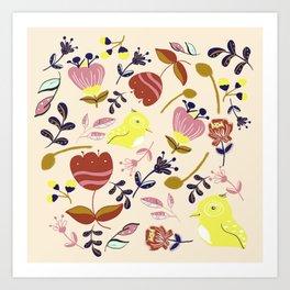 Modern Folk Art Art Print