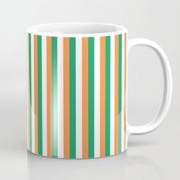Irish Tricolour Vertical Stripes Green Orange and White Irish Flag Coffee Mug
