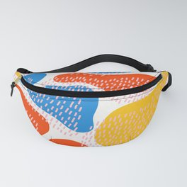 Abstract Orange, Blue & Yellow Memphis Pattern Fanny Pack