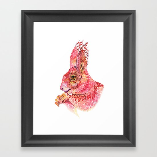 The squirrel magic  Framed Art Print