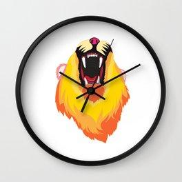 Roaring Lion - Yellow Wall Clock