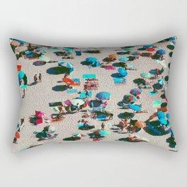 Pastel Beach Umbrellas (Color) Rectangular Pillow
