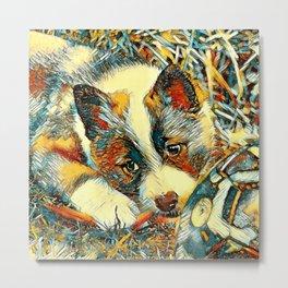 AnimalArt_Dog_20170803_by_JAMColorsSpecial Metal Print