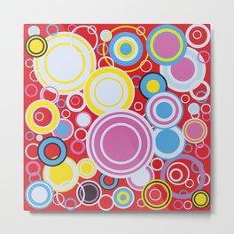 Pop Art Colour Circles Metal Print