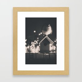 Birdy - Black & White Framed Art Print