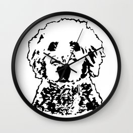 Goldendoodle Dog Gifts Wall Clock