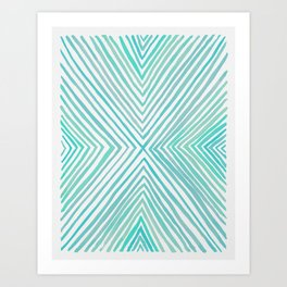 The Big X in Teal Art Print
