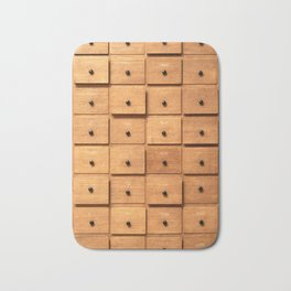 Wooden cabinet with drawers Bath Mat