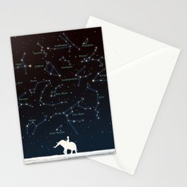 Falling star constellation Stationery Cards
