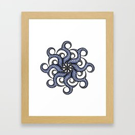 Reverse in blue Framed Art Print