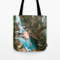Flamingo Forest #society6 #decor #buyart Tote Bag