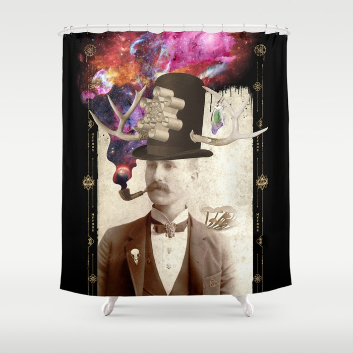 Odd Gent Shower Curtain By Beerymethod