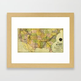 Map of the Shenandoah Valley Railroad Route (1890) Framed Art Print