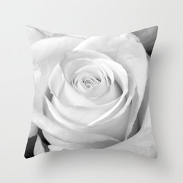 in spite of it all -- portrait of a rose Throw Pillow
