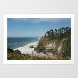 The Coastal Cliffs of Cape Disappointment, Washington Art Print