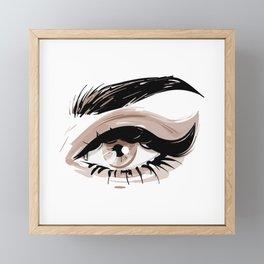 Eye Makeup Framed Mini Art Print