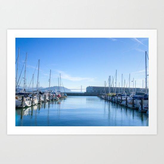 San Francisco Marina Art Print