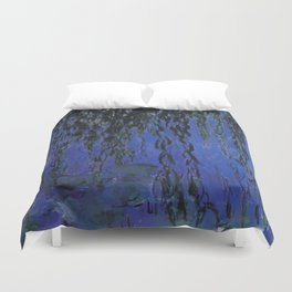 "Claude Monet ""Water Lilies and Weeping Willow Branches"", 1919 Duvet Cover"