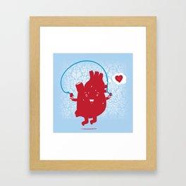 Cardio Ambition Framed Art Print