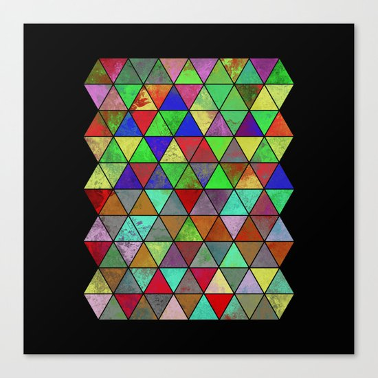 Textured Triangles 2 - Abstract, geometric, textured painting Canvas Print