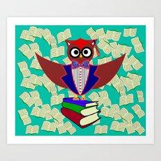 Professor Dr.Owl Art Print