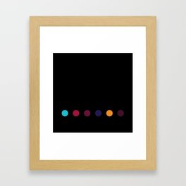 Six Dots Framed Art Print