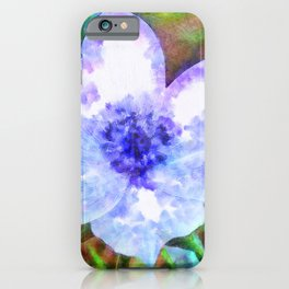 Blue Anemone Watercolor iPhone Case