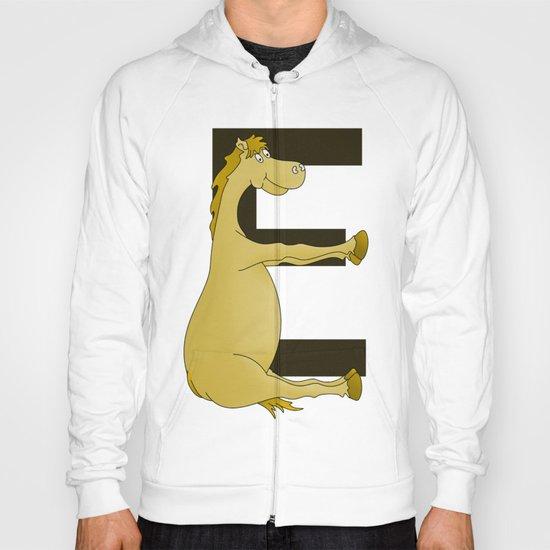 Pony Monogram Letter E Hoody