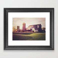 autumn barn Framed Art Print