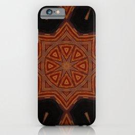 Sahara Nights // Visionary Art Mandala Star Black Red Geometric Circle iPhone Case