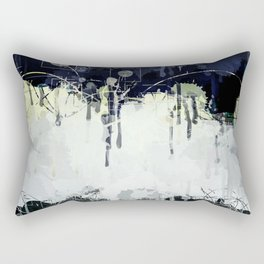 Modern Indigo Eclipse Abstract Design Rectangular Pillow