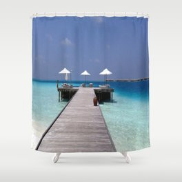 Jetty in the Indian Ocean Shower Curtain