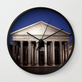 Pantheon at dawn Wall Clock