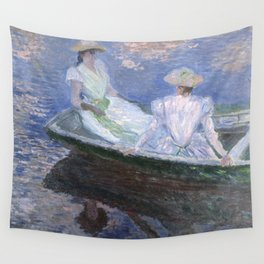 1887-Claude Monet-On the Boat-133 x 145 Wall Tapestry
