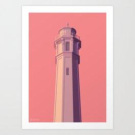 San Francisco Towers - 05 - Alcatraz Lighthouse (sunset version) Art Print