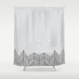 Winter Trees and Snow Shower Curtain