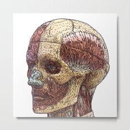 Face_Model Metal Print