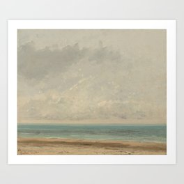 Gustave Courbet Calm Sea 1866 Painting Art Print