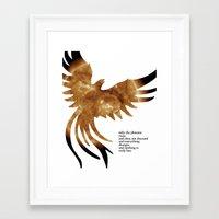 neil gaiman Framed Art Prints featuring Neil Gaiman Inspired Art by pennyprintables