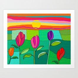 Tullip summer Art Print