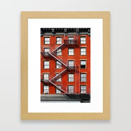 new york city ... fire escape Framed Art Print